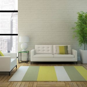 Striped area rug in apartment   Owens Supply Company, Inc